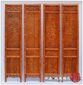 Screen partition folding screen living room bedroom porch entrance hall room Chinese retro solid wood folding mobile residential furniture
