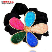 Package mail smiling hair accessories Korean decorative flower flower head made by Candy-colored resin alloy Korea tiara girls