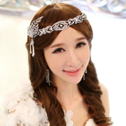 Good smart European and American bridal tiaras bridal wedding dress accessory pearl rhinestone bride tiara