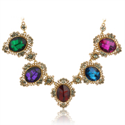 Mu-Mu-jewelry big fashion color Crystal luxury Korea Western style bridal wedding jewelry accessories