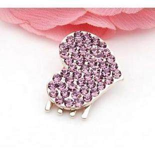 C025 Korea heart shaped flower clip Korean tiara hair shishangmeili hair clip hairpin