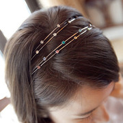 Good jewelry Korea shiny fashion hair accessories headband rhinestone tiara headband Korean card issuers