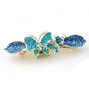 F056 good jewelry Butterfly hairpin rhinestone Barrette headdress Korea hair clip hair hair accessories