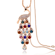 Good bags-mail necklace women''s Peacock long versatile sweater chain retro Korea Korean fashion jewelry