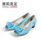 Tilly 2014 summer fashion new fish mouth with cool foot sandal women's shoes leather shoes rhinestone