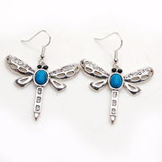 Smiling Korean version of Dragonfly rhinestone long earring earring earring earring Korea earloop accessory female 357859