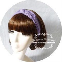 Retro monochrome Europe's Forestry Department in Europe and America and purple woven Korea Japan wide edition retro hair band headband