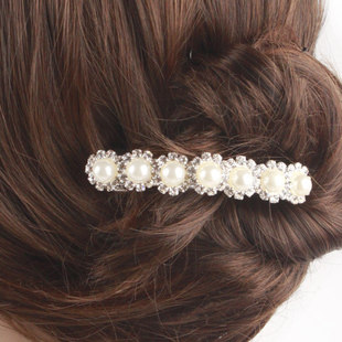 F019 good jewelry ornaments made by Korean bride elegant rhinestone metal hair clip hairpin authentic