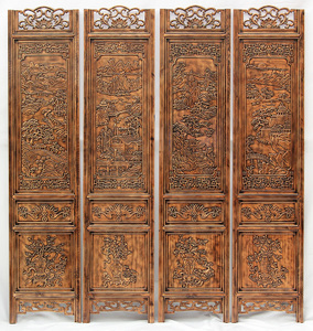 Screen partition folding screen living room bedroom room entrance hallway Chinese style retro solid wood folding mobile residential furniture