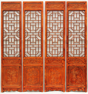 Screen partition folding screen living room bedroom foyer room porch Chinese retro solid wood folding mobile residential furniture