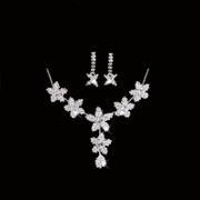 Honey marriage necklace 2015 new popular wedding necklace earrings set necklace