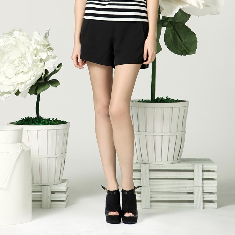 AZONA专柜正品优雅时尚修身百搭短裤 A1O2C0351PN