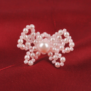 Handmade beaded jewelry DIY kit bow ring ring gift original ABS faux Pearl Jewelry