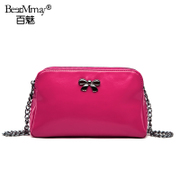 Hundreds of charming 2014 new cowhide Butterfly shoulder bag slung across European fashion zipper square casual handbag