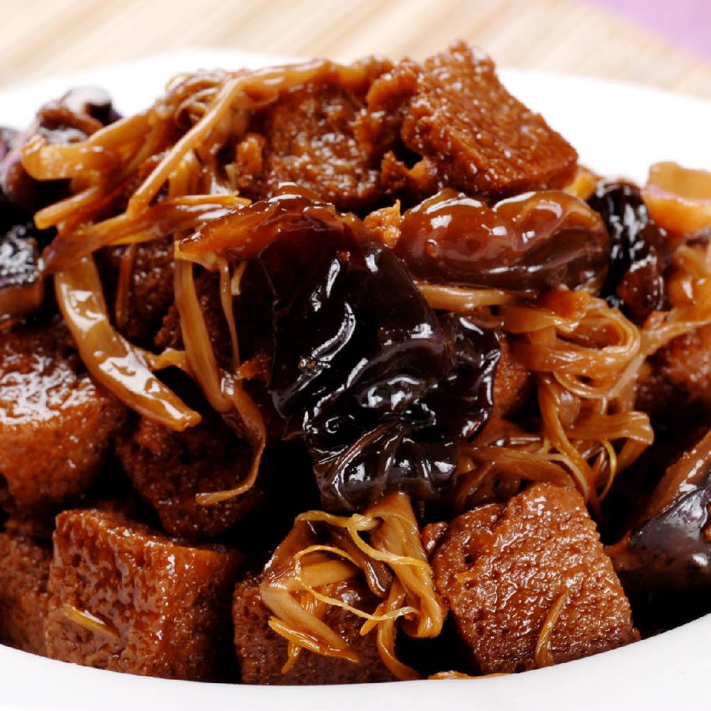 功德林 五香烤麸干 豆干制品上海素食嚼劲 豆干牛肉脯 5件包邮
