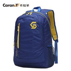 卡拉羊大容量运动休闲旅行双肩包男女韩版中学生书包大学生背包