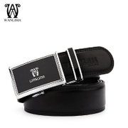 Wan Lima belt men's automatic buckle leather belt belts belt business middle age Korean trend products