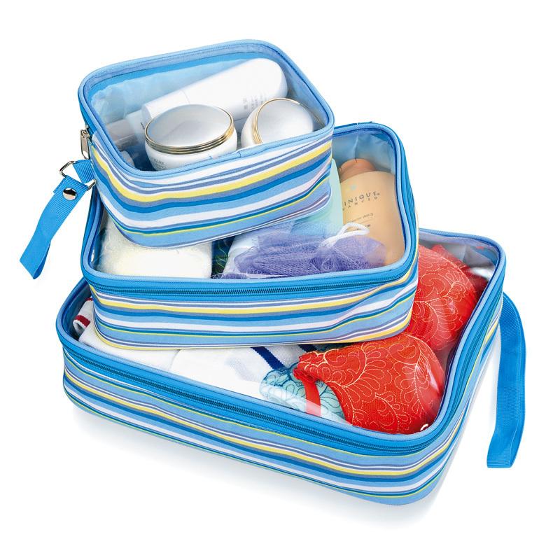 519男女旅行透明洗漱包 旅行收纳包 化妆包 三件套