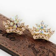 D225 good jewelry Korea Stud Earrings earrings fashion Crown rhinestone beauty earrings