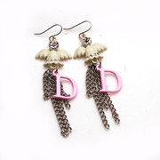 Smiling Korean fashion package email Angel rhinestone long earring earring earring earring Korea ear