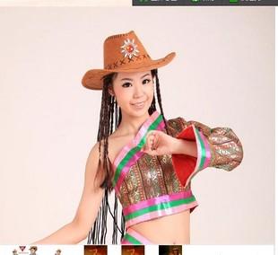 民族服装配饰西部牛仔帽子康定情歌帽子少数舞蹈演出服饰藏族配饰图片