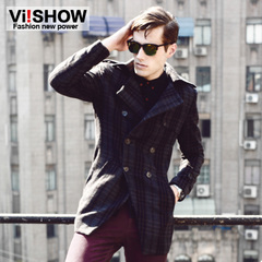 Viishow2015 spring trench coat European wind long contracted windbreaker jacket men coat men jacket