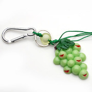 Smiling grape hung super cute Keychain jewelry charm pendant jewelry accessory ideas key ring