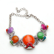 Package mail smiling Korea wax beads Crystal rhinestone alloy bracelet hand chain Korean jewelry women