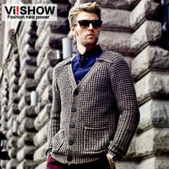 Viishow autumn new slim knit Cardigan Sweater men's sweaters men's sweaters men's jackets null