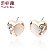 Ya na grade Opal Heart diamond earrings fashion earrings Korean earrings Y127