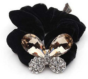 G007 Korean fashion Butterfly hair bands velvet hair accessory
