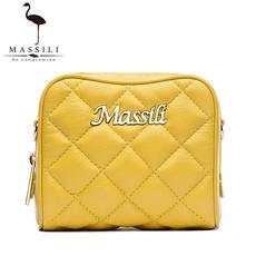 古马龙MASSILI2016新款韩版真皮小号迷你菱格包时尚单肩斜挎女包
