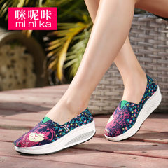 MI Ka foot lazy person sets foot shoes Korean wave sneakers women thick cake shake shoes shoes shoes