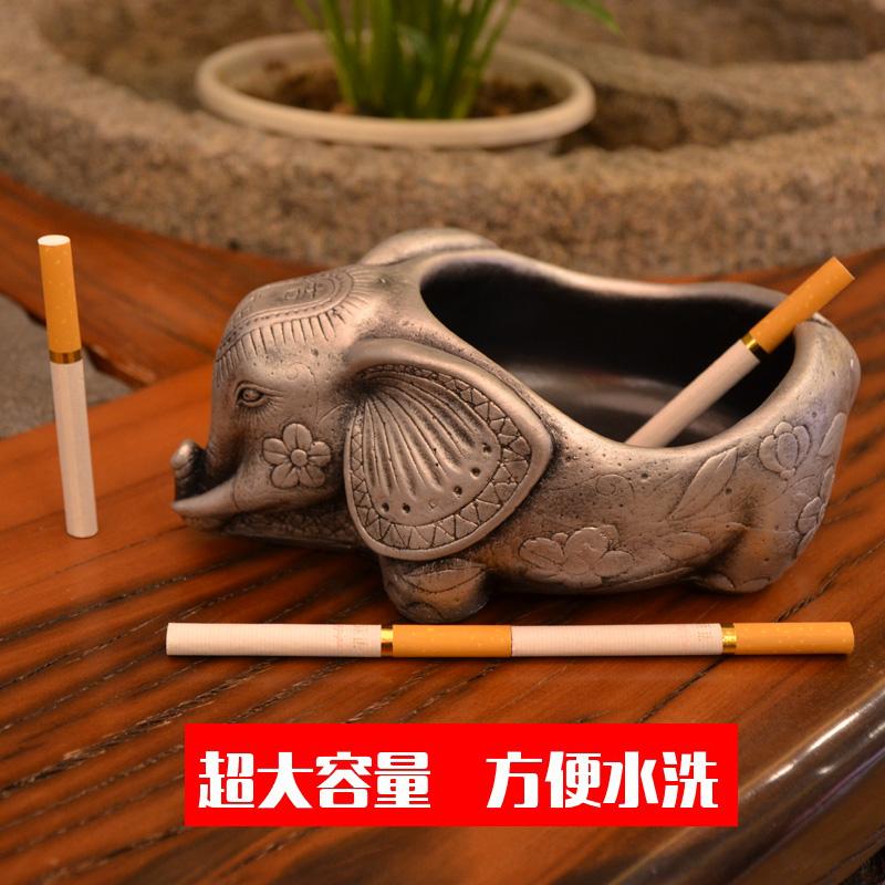 大容量创意复古大象烟灰缸男友办公桌个性生日礼品摆件饰品包邮