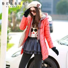 Down jacket large zip around wallet pink doll 2015 surges in new slim thick down jacket women down jacket