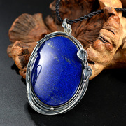 Thai natural lapis lazuli pendant s925 silver ladies Western fashion design pendant