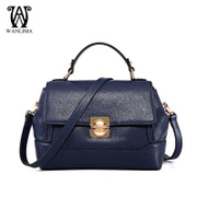 Wanlima/horse woman thousands of miles for 2015 new bag for fall/winter fashion solid color locking shoulder Messenger bag