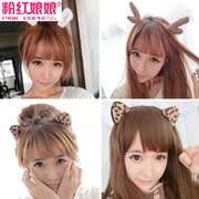 Pink Empress Christmas party hair ear clips antler headband rabbit ears Devil Horn and Leopard card