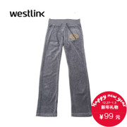 Westlink/West New 2015 winter casual DrawString elastic waist corduroy suit pants women's pants