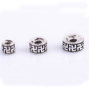Alloy Tibetan silver bead spacer 37 million characters of silver bracelets Bodhi Joker receptacle gaskets antique silver flower
