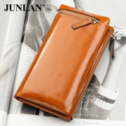 LAN-June 2015 new genuine leather wallet purse women around wallet first layer leather hand bag large capacity