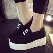 Thousands of Maple autumn lazy 20,151 was wearing women's canvas shoes sneakers platform student Lok Fu sets foot shoes and leisure shoes