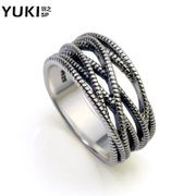 YUKI Tai Ma Ji Suohuan silver ring 925 Silver ring men''s retro personality boys silver ring girls finger ring