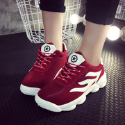 2016 spring new Korean tidal Shoes Sneakers casual breathable shoes running shoes student flat heel shoes