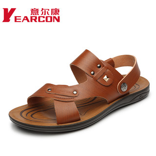 YEARCON/con men Sandals 2015 summer new fashion trend of the Korean version of casual men's beach shoes