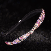 Gallant hair accessories Korean headband fashion leather water bit hoop Crystal bow headdress issuing fashion jewelry