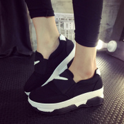 Feng Korean breathable shoes in summer and autumn, thousands of women and a thick end of Gao Lefu pedal platform shoes and leisure shoes women's shoes