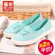 Spring/summer new style canvas shoes women shoes are comfortable and breathable little white shoes with flat sweet nurse shoes Korean wave package mail