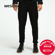 Westlink/2015 West new letters DrawString elastic waist pants resumption in winter sports and leisure men's trousers