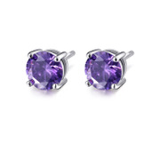 LAIRE/Larry S925 fungus nails girl Japan and South Korea contracted Tremella decorative inlay purple zircon